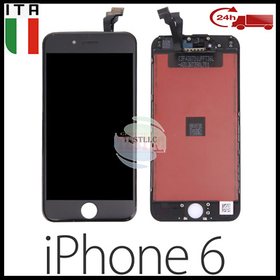 Schermo Display Per Iphone6 Lcd Touch Screen Retina Vetrox  Nero