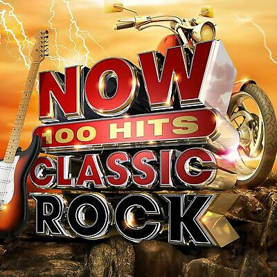 NOW 100 Hits Classic Rock - New 6CD Album - Released 07/06/2019