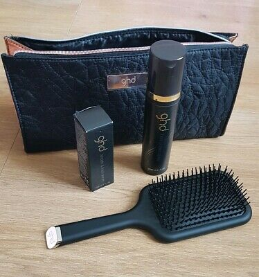 GHD Copper Luxe Gift Set. Heat protection spray, Smooth Serum, Paddle brush+Bag
