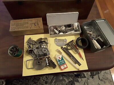Group lot Vintage  singer or similiar sewing machine bits and pieces
