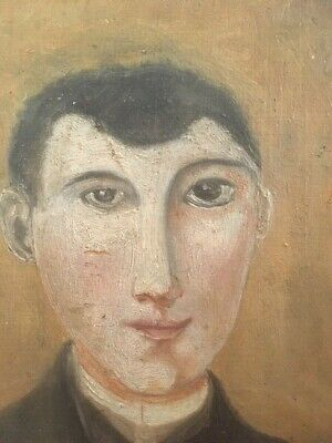 very interesting small portrait, late 19th century, good painting