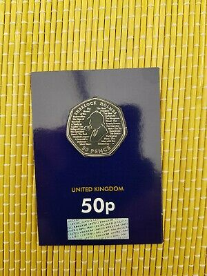 """Sherlock Holmes 2019 UK 50p Fifty Pence Coin Brilliant Uncirculated¥₩"""""""