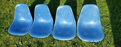 EAMES BLUE Shell Fiberglass Vintage HERMAN MILLER CHAIR Narrow Mounts **Qty 4**