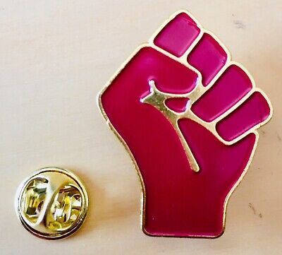 Faust Pin Anstecknadel Anstecker fist Badge Revolution Antifa Black lives matter