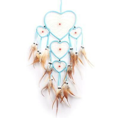 Blue Handmade Dream Catcher with feathers car wall hanging decoration ornament