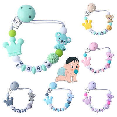 Baby Koala Pacifier Chain Dummy Holder Clip Baby Feeding Teether Pacifiers Clip
