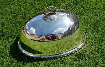 Antique vintage silver plated cloche food serving cover dinner party piece