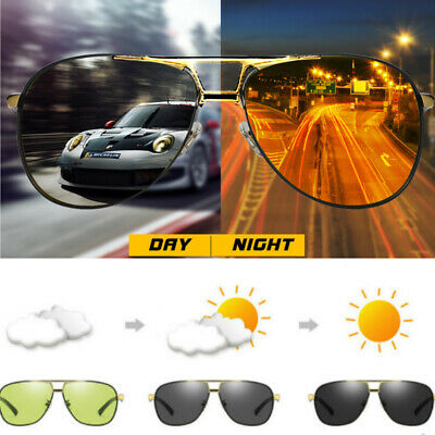 Mens Polarized Photochromic Sunglasses Pilot UV400 Chameleon Men Driving Eyewear