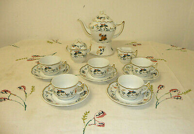 "Raynaud ""Pappilons"" Limoges France ""VOL DE NUIT"" MYSTERE Tee Set 5 Pers."