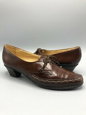 Vintage BARKER Womens Shoes Size 6 (75C) Leather Brown