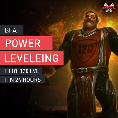 WoW Character Boost Buy Boosting Power Leveling von 110 auf 120 Level LVL EU/US