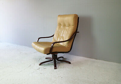 1970's Danish mid century reclining lounge chair (2 available)