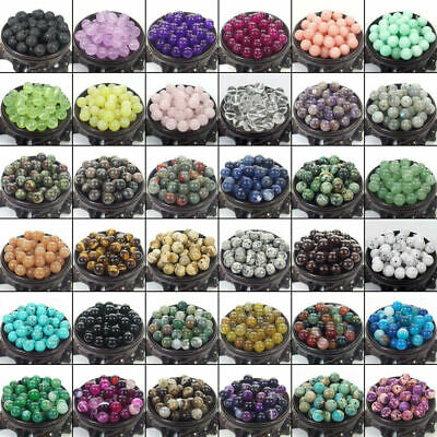 4mm 6mm 8mm 10mm Lot Bulk Natural Stone Lava Loose Beads Bracelet Wholesale
