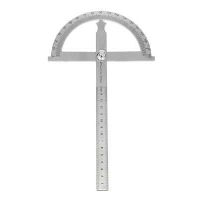 Detachable Stainless Steel Round Head Rotary Protractor Angle Ruler Measuring