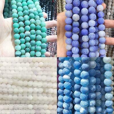 Series I lot natural gemstone spacer loose beads 4mm 6mm 8mm 10mm 12mm ston X3W8