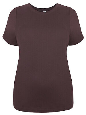 New New Look Inspire Curve Brown Pure Cotton Plus Size T-shirt