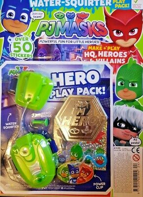 Pj Masks Magazine May/June 2019 = Free Water-Squirter Play Pack + Stickers