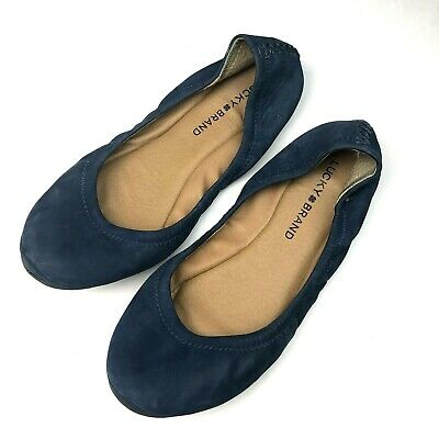 Select Size NEW $59 Lucky Brand Emmie Black Paisley Comfort Ballet Flats Shoes