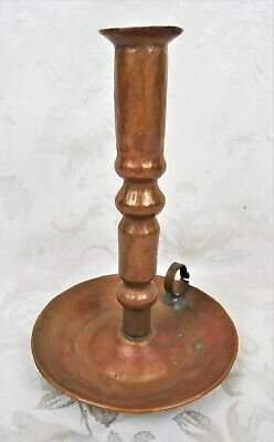 Arts and Crafts Hammered Copper Chamberstick in The Manner of Gustav Stickley