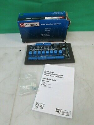 Altronix ACM8 Access Power Controller 8 Fused Outputs Fire Alarm NEW FREE SHIP