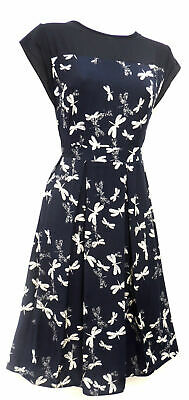 New Vtg 1930's 40's WW2 Homefront Victory Swing Tea Party Dress