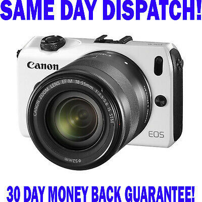 Canon EOS M 18.0MP Digital Mirrorless Camera With EF-M 18-55 IS STM Lens - White