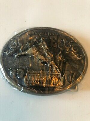 1977 HESSTON NATIONAL FINALS RODEO BELT BUCKLE  Still wrapped in plastic