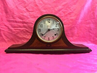 Antique Vintage Sessions Eight-Day Dulciana Mantle Chime Clock - PLEASE READ!