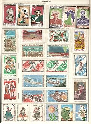 Cameroun Beautiful issues from 1969 - 1971 in MNH condition