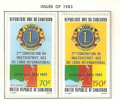 Cameroun Beautiful issues from 1983 - 1984 in MNH condition