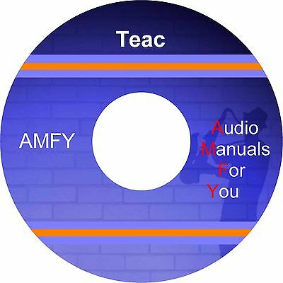 TEAC AUDIO SERVICEMANUALS, ownersmanuals and schematics on 1 dvd