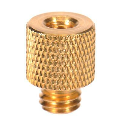 "Screw 3/8"" Female to 1/4"" Male Thread Adapter Camera Tripod Head Reducer Brass"