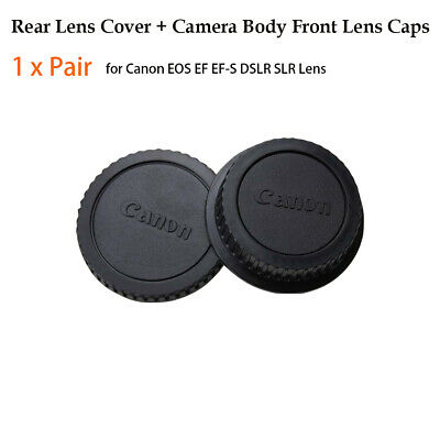 1 x Pair Rear Lens Cover+Camera Body Front Lens Caps for Canon EOS EF EF-S DSLR
