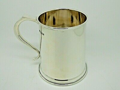 Antique Silver Pint Mug / Tankard Sheffield 1962 – Alexander Clark & Co 313g