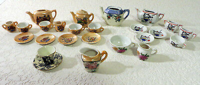 Vintage Miniature Porcelain Toy China Tea Set Pieces Made in Japan 24