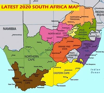 Latest South Africa Map 2019 for Garmin GPSs
