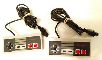 (1) Pair of Nintendo Entertainment System NES-004 Video Game (2) Controllers