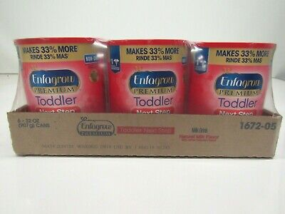Enfagrow PREMIUM Toddler Next Step, Natural Milk Flavor - Powder, 32 oz (6 Pack)