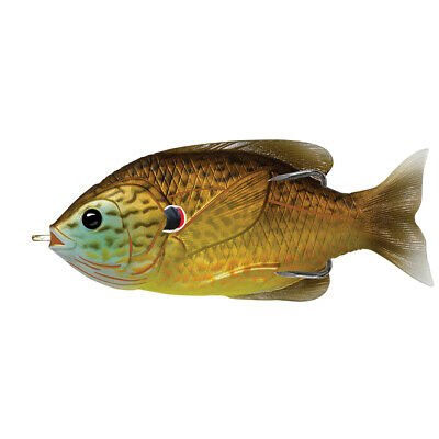 "Livetarget Sfh75T558 Sunfish Hollow Body Freshwater 3"" 3/0 Hook. Topwater Depth"