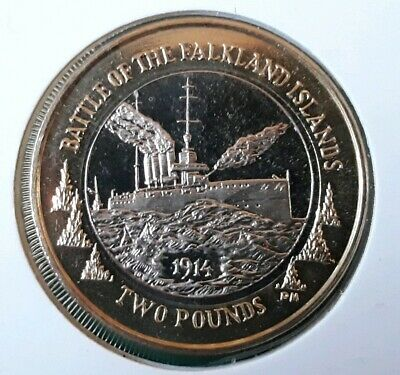 2014 BATTLE OF FALKLAND ISLANDS. £2 Two Pound Coin. Falklands. From Sealed Bag.