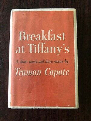Breakfast At Tiffany's Truman Capote 1958 Hardcover Dust Jacket Ex Library