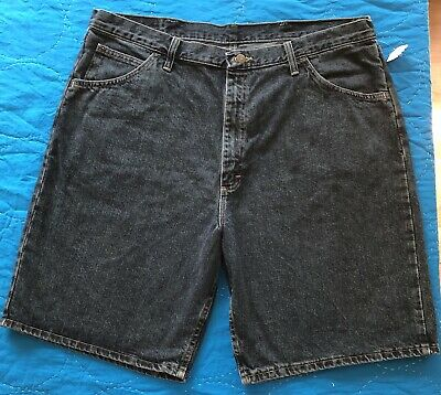 57662b886d Wrangler Mens Size 40 Jean Shorts Dark Wash Denim Relaxed Fit Flat Front New