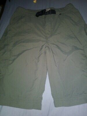 Boy Scouts Of America BSA Olive Cargo  Switchback Shorts No Legs Youth Small