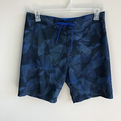 9f858d82bd Prana Mens Size 32 Blue Geometric Swim Trunks Board Short Tie Front Bathing  Suit