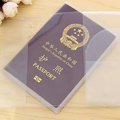 Portable Clear Passport Cover Holder ID Card Travel Protector Organizer Case US