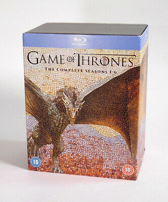 Game of Thrones The Complete Seasons 1-6 blu ray disc set