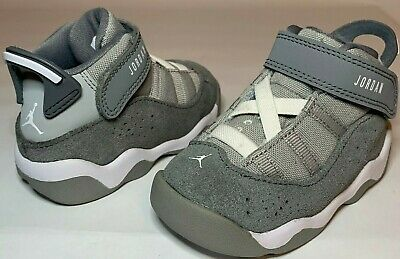 Nike Air Jordan 6 Rings COOL GREY Boys Toddler Baby Shoes Size 5c NICE White