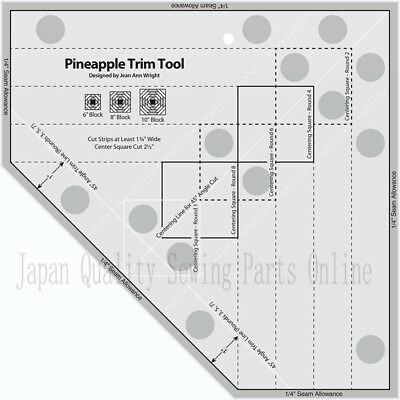 NON-SLIP The Pineapple Ruler NEW Quilting Ruler Pineapple Trim Tool MST-03