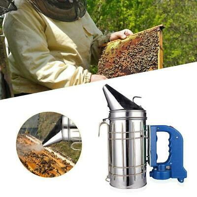 Large Stainless Steel Electric Bee Hive Smoker Fumes Machine Beekeeping Tools Ho