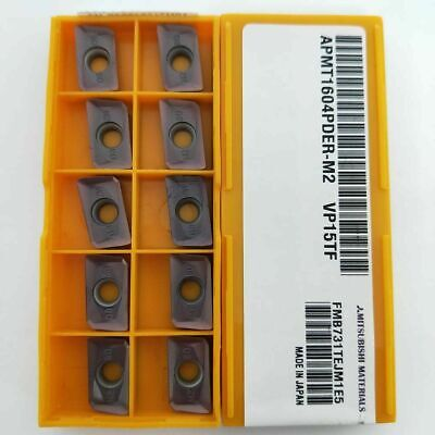 20Pcs 25R0.8 Indexable Insert APMT1604 PDER DP5320 Carbide Inserts APKT160408